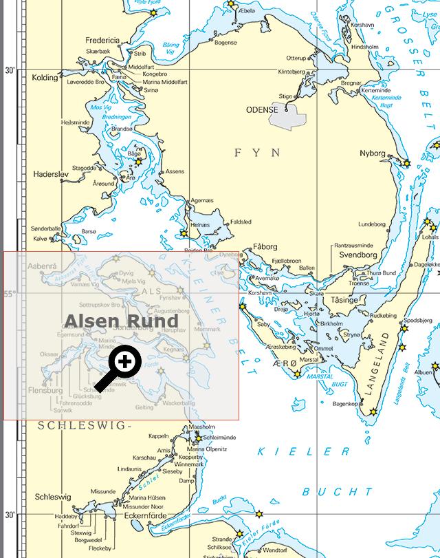 Seekarte Übersicht Alsen Rund