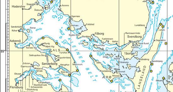 Seekarte Revierübersicht
