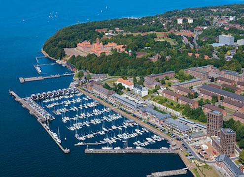 Luftbild Hafen Sonwik, Flensburg